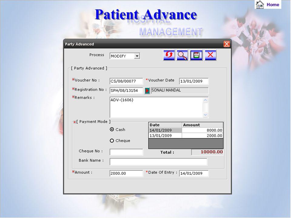 Patient Advance Patient Advance