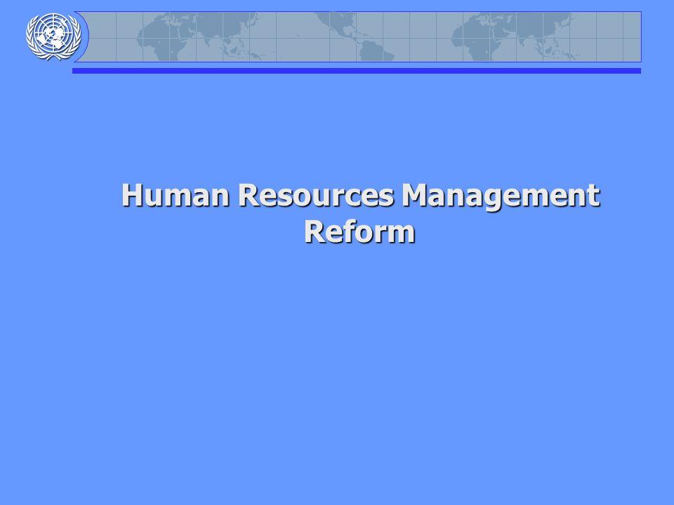 Human Resources Management Reform