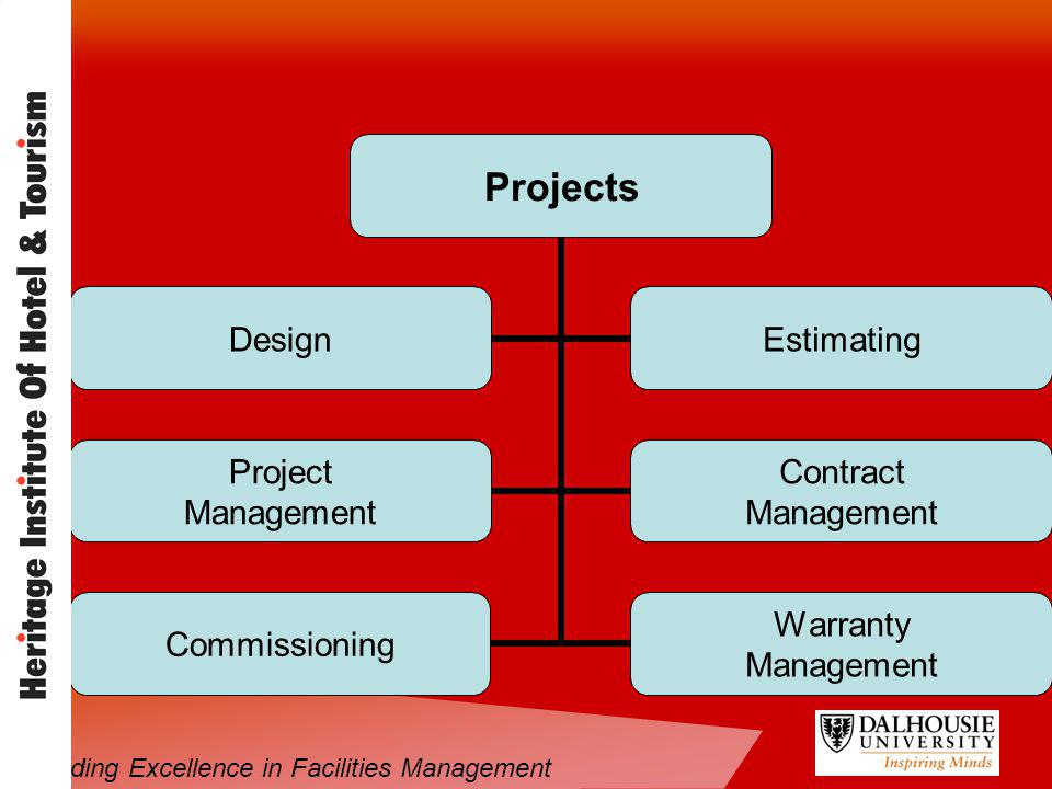 Projects DesignEstimating Project Management Contract Management Commissioning Warranty Management Providing Excellence in Facilities Management