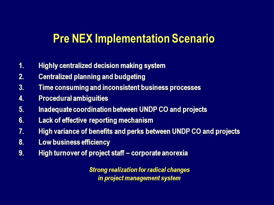 NEX Project Recruitment Committee (NPRC) (SC-7 to SC-10) 1.National Project DirectorChairperson 2.EAD Representative Member 3.UNDP Assistant Resident RepresentativeMember 4.National Project ManagerMember 5.UNDP HR ManagerSecretary