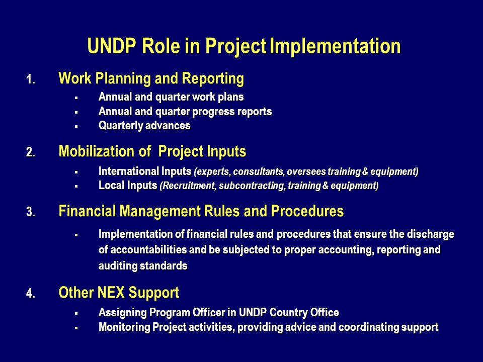 UNDP NEX Service Contract Scales B.