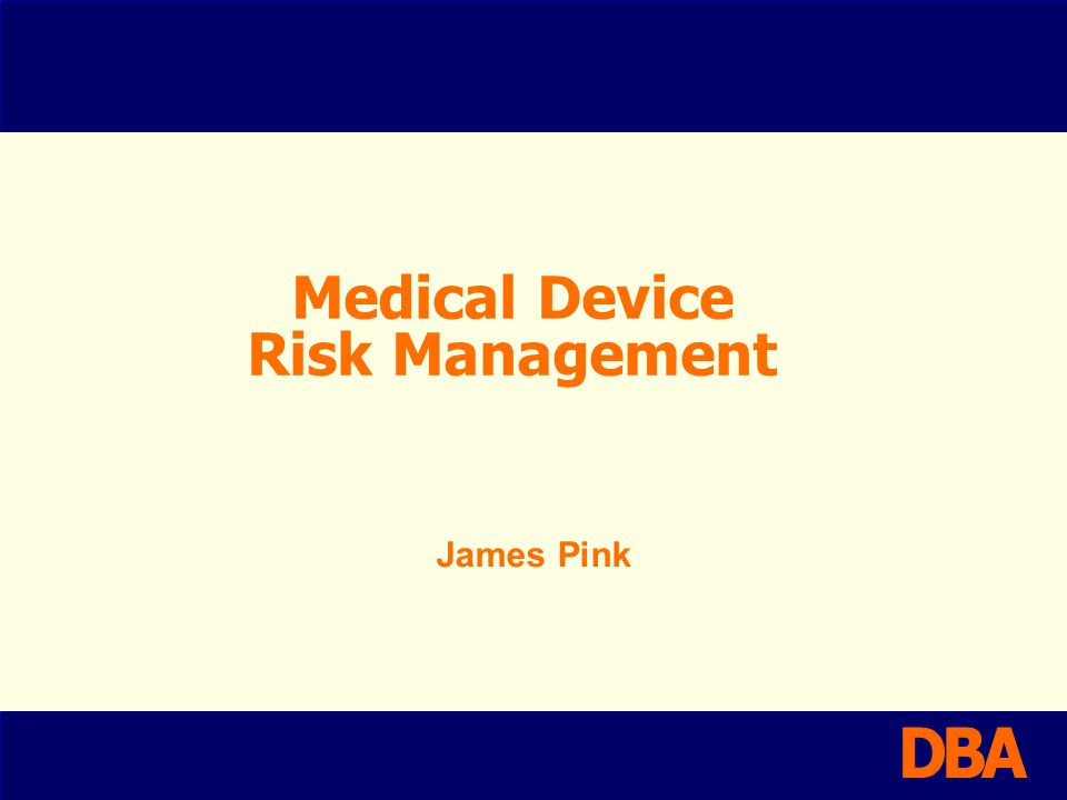 Requirements The medical device industry is highly regulated and based upon a device specific risk rating for dealing with the level of regulation to be applied prior to market acceptance All modern medical device regulations cite ISO14971:2007 as being the standard to apply for medical devices