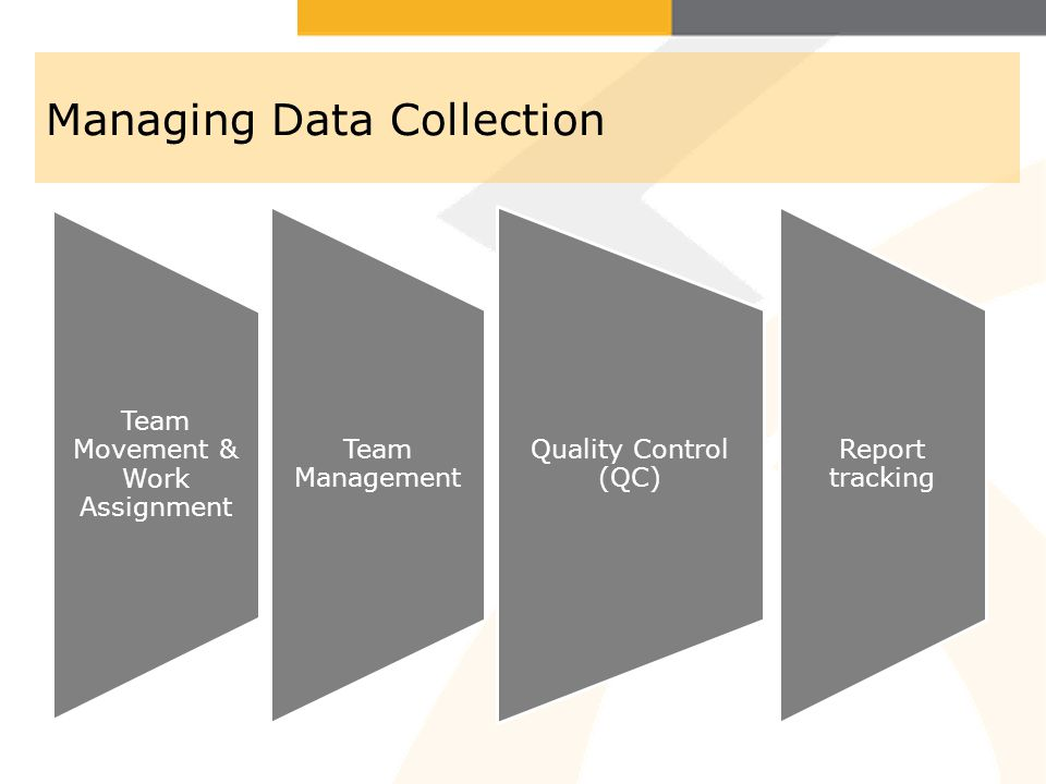Managing Data Collection (Continued) Maintain MIS system (Quantitative data) Report writing (Qualitative data)