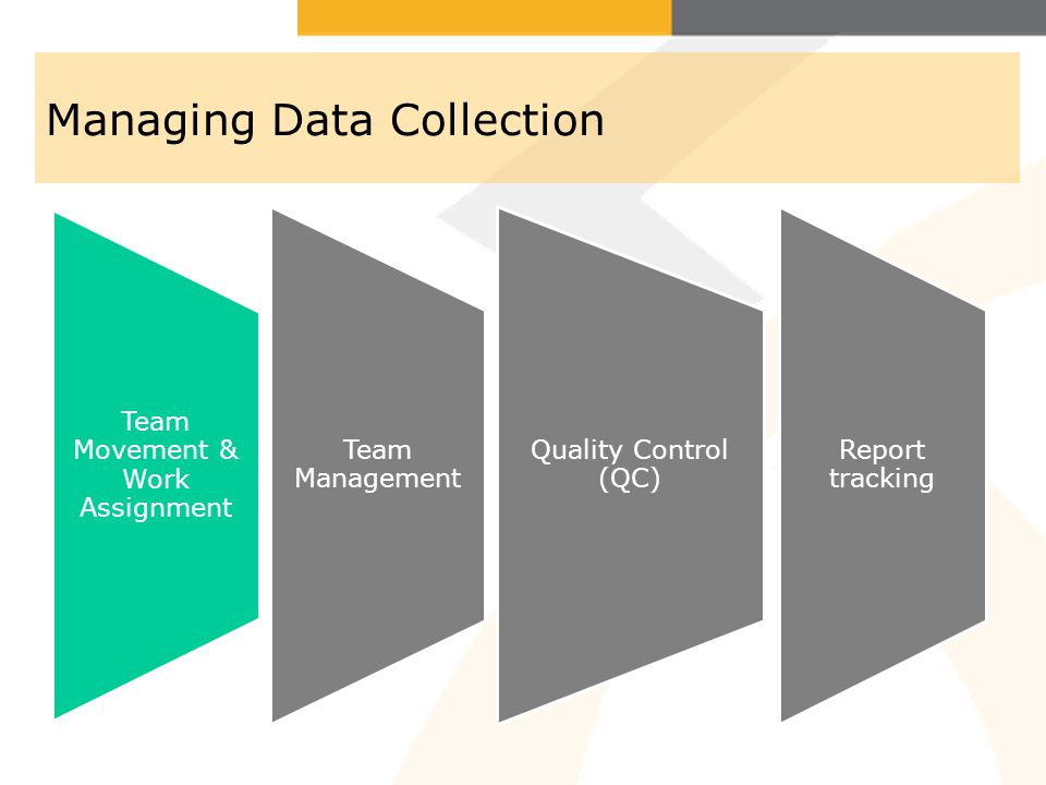 Managing Data Collection (Cotd) Maintain MIS system (Quantitative data) Report writing (Qualitative data)
