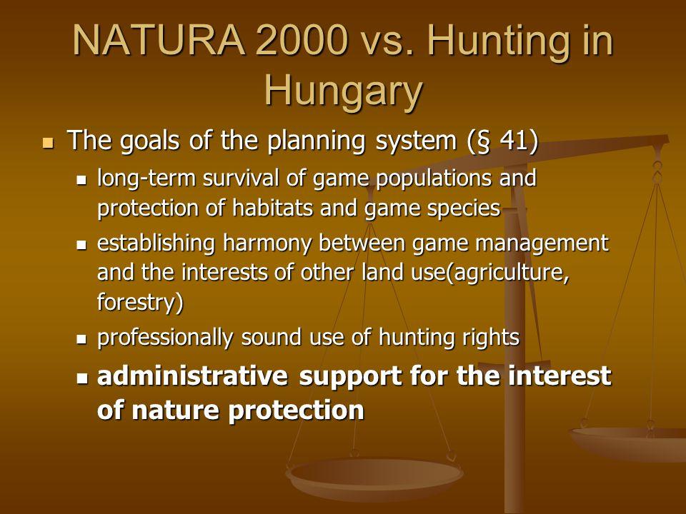 NATURA 2000 vs.