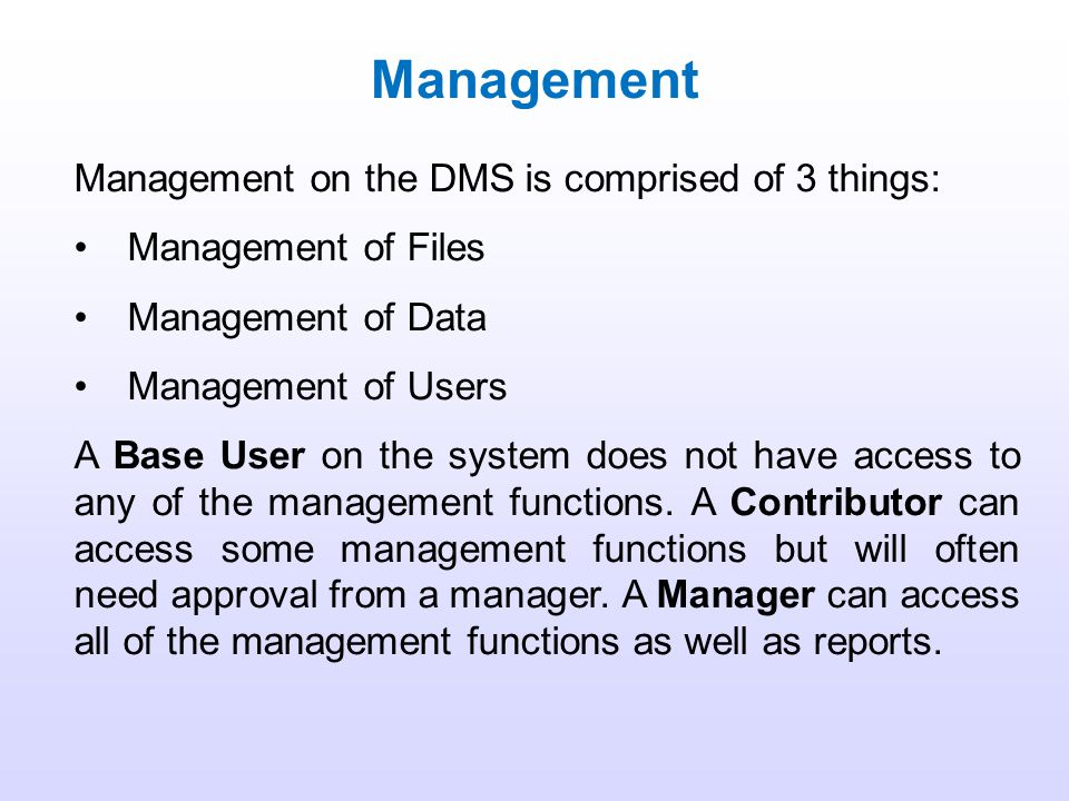 Introduction Searching Management Click an image to go to that section or continue on for Management