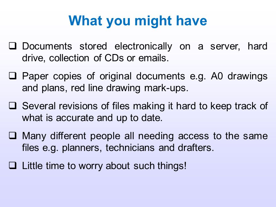 Every document in the DMS, whether it is a drawing, manual or work procedure, is given a document number.