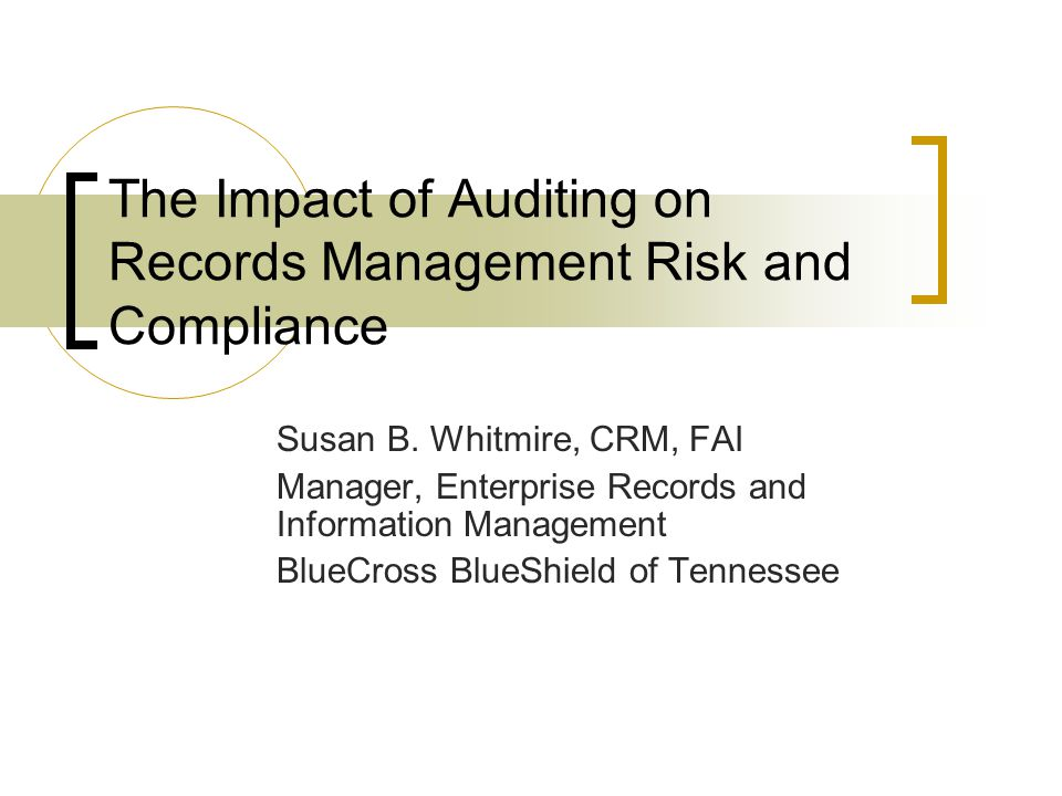 Agenda Definitions Risks Compliance Auditing