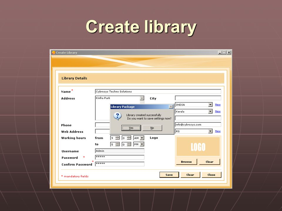 Create library