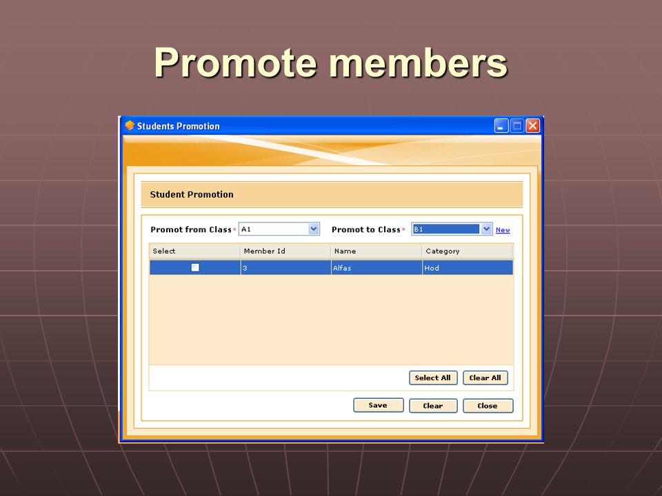 Promote members