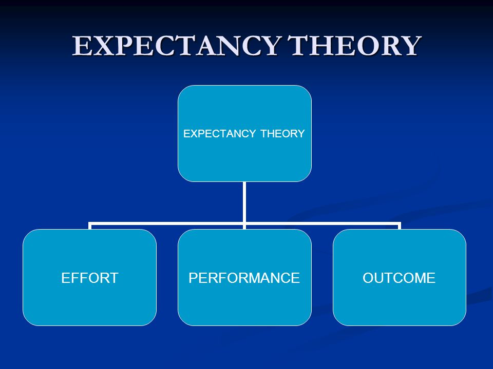 EXPECTANCY THEORY EFFORTPERFORMANCEOUTCOME