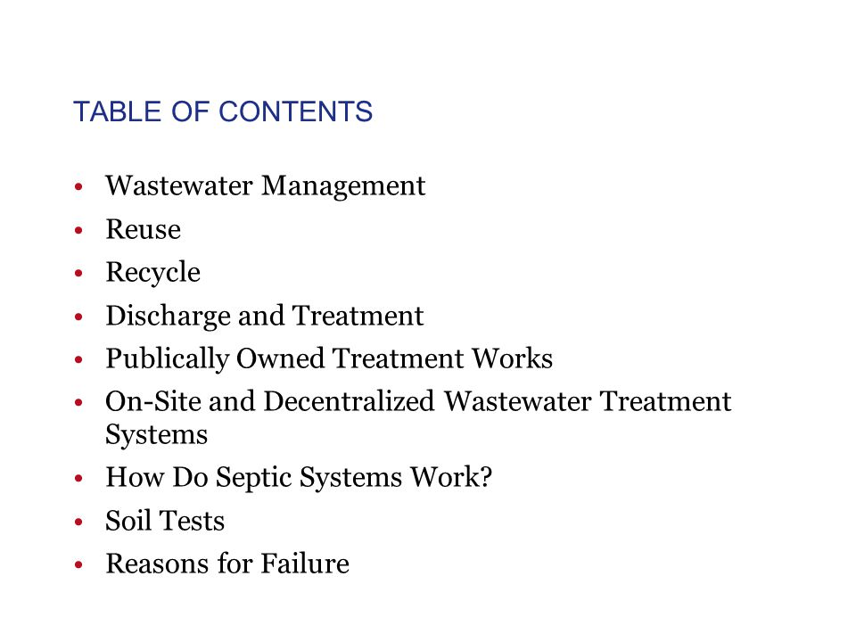 Wastewater Management Reuse Recycle Discharge and Treat