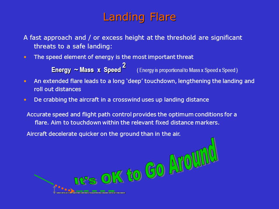 Every landing A Safe Landing Every landing A Safe Landing is a good example for everyone How heavy is the aircraft How long is the runway How fast is the aircraft How wet is the runway Head / Tailwind On Speed Respect the stabilized approach criteria Height over the threshold How much braking to use A good landing Captain