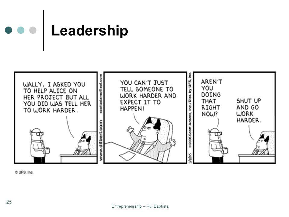 Entrepreneurship – Rui Baptista 25 Leadership