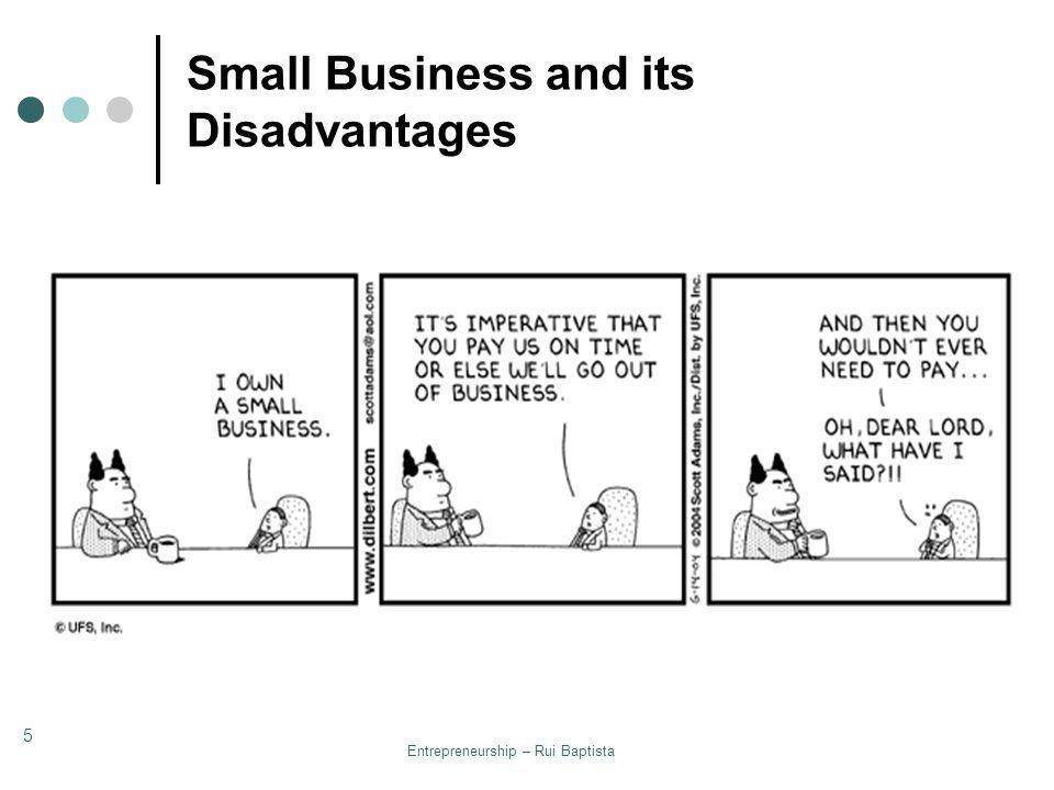 Entrepreneurship – Rui Baptista 5 Small Business and its Disadvantages