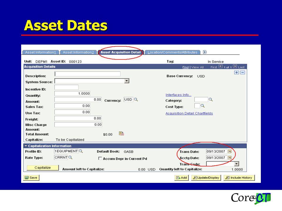 20 Asset Dates