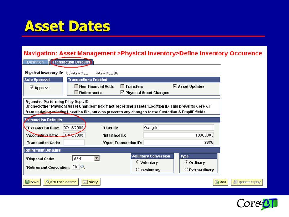 26 Asset Dates