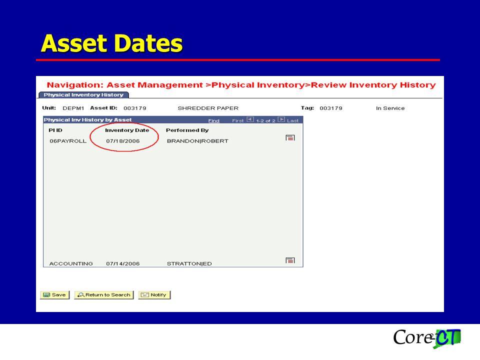 27 Asset Dates