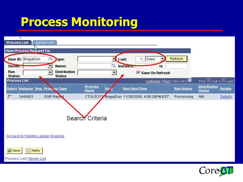 46 Process Monitoring Search Criteria