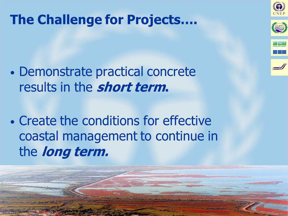 Joint MAP/METAP Workshop on Coastal Area Management Projects: Improving the Implementation - Malta, January 17-19, 2002 The Challenge for Projects….