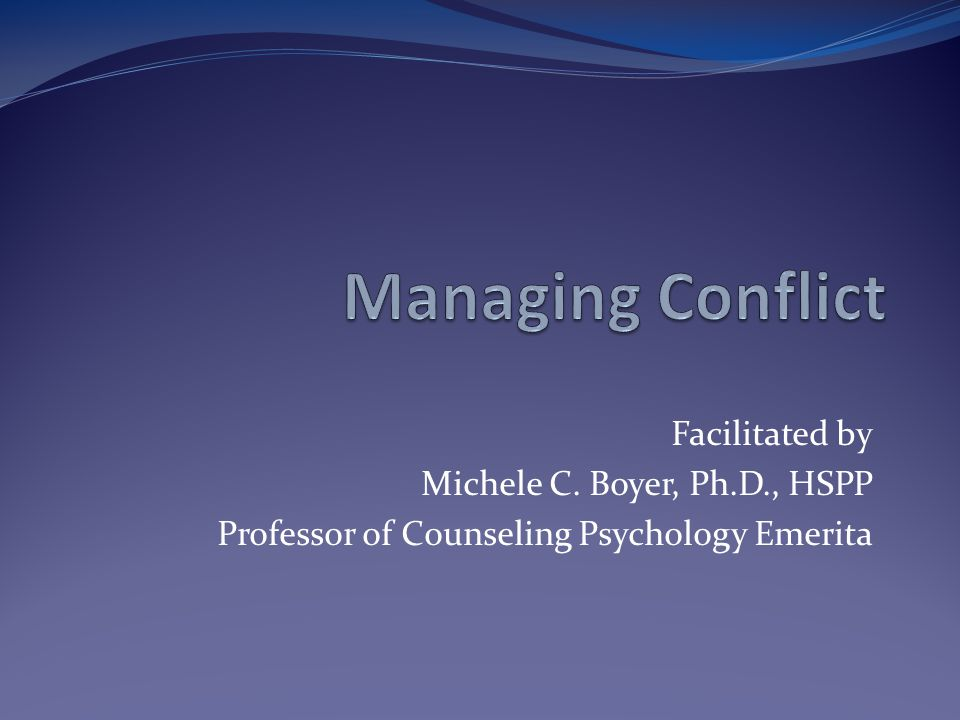 Facilitated by Michele C. Boyer, Ph.D., HSPP Professor of Counseling Psychology Emerita