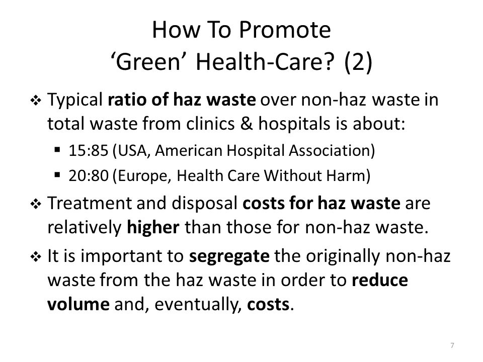 How To Promote Green Health-Care.