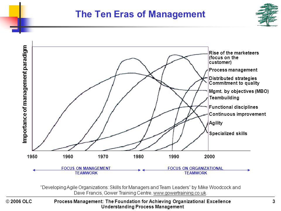 Process Management: The Foundation for Achieving Organizational Excellence Understanding Process Management © 2006 OLC3 The Ten Eras of Management 195