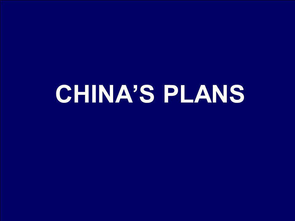CHINAS PLANS