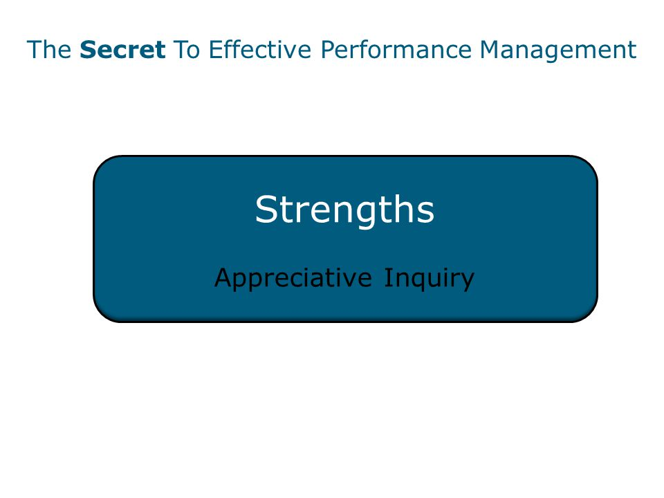 Strengths Appreciative Inquiry The Secret To Effective Performance Management