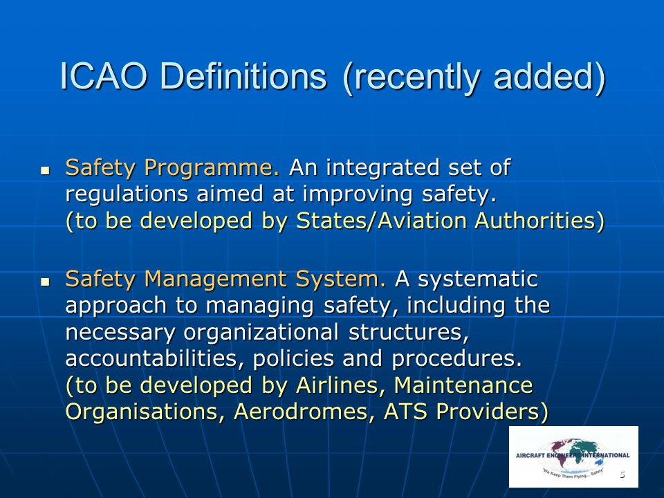16 Traditional approach to safety and its limitations Traditional Approach Develop regulations on how to design, manufacture, maintain and operate aircraft.