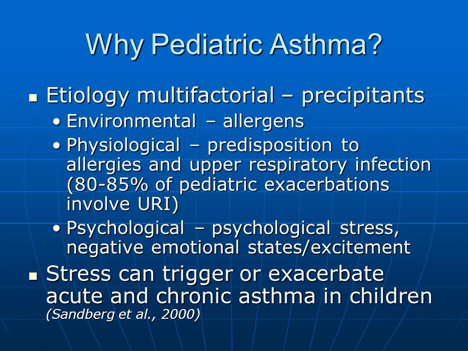 Why Pediatric Asthma.