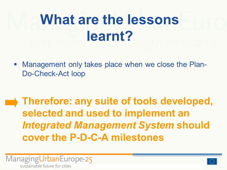 What are the lessons learnt.