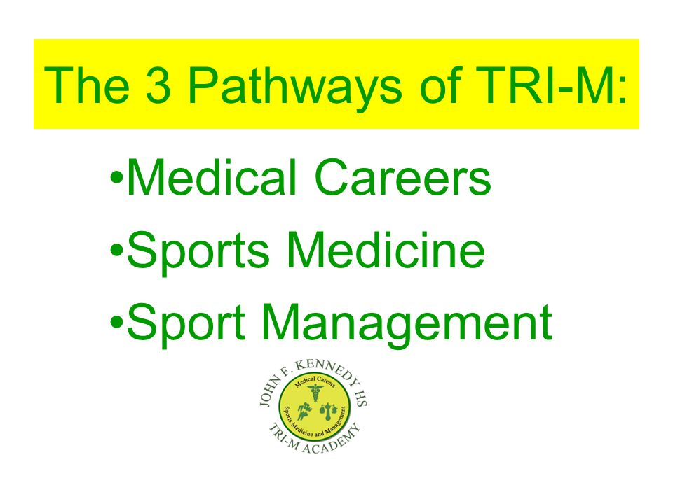 The 3 Pathways of TRI-M: Medical Careers Sports Medicine Sport Management