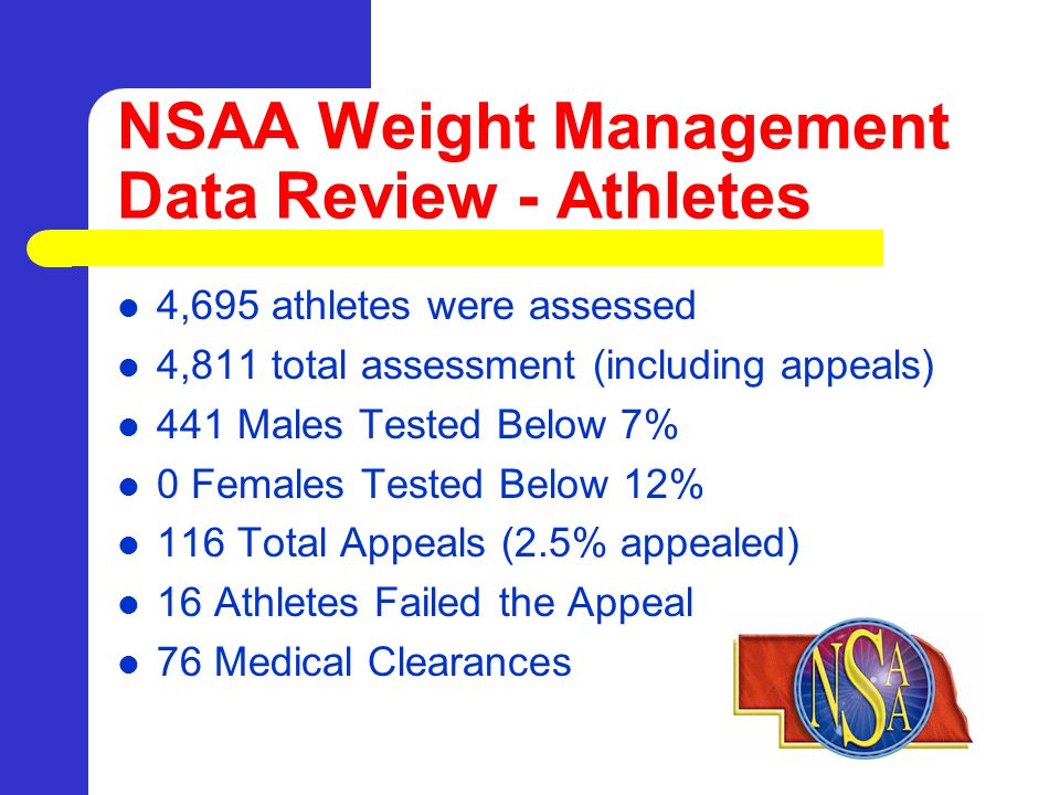 Change: Weigh-in Data Entry by Coaches Coaches create a Pre-Meet Weigh-In Form – Coach takes form to weigh-in – Weigh-ins are manually recorded on form by an official, weigh-in supervisor, or opposing coach – All parties sign Weigh-In Form – Copies given to opposing coach – One form for entire team