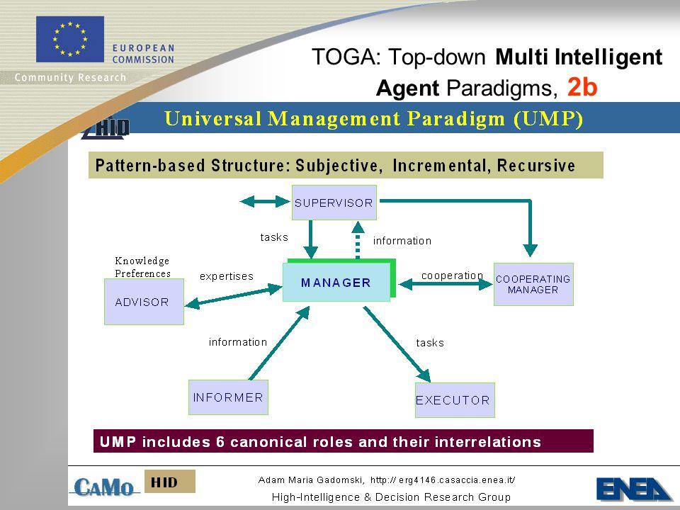 TOGA: Top-down Multi Intelligent Agent Paradigms, 2b