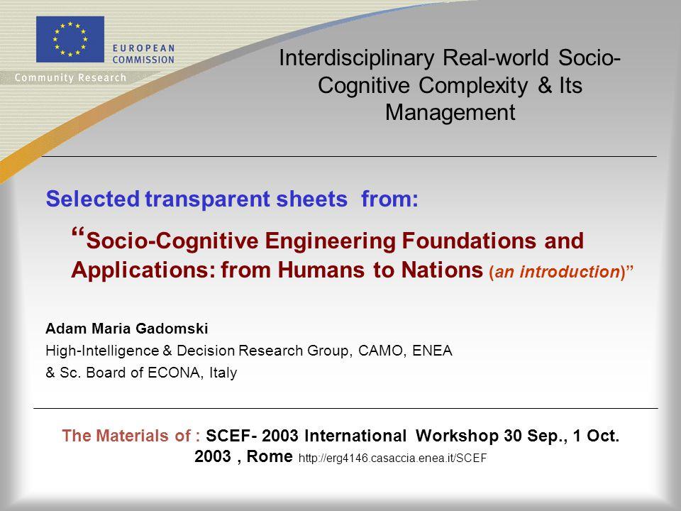 The Materials of : SCEF- 2003 International Workshop 30 Sep., 1 Oct.