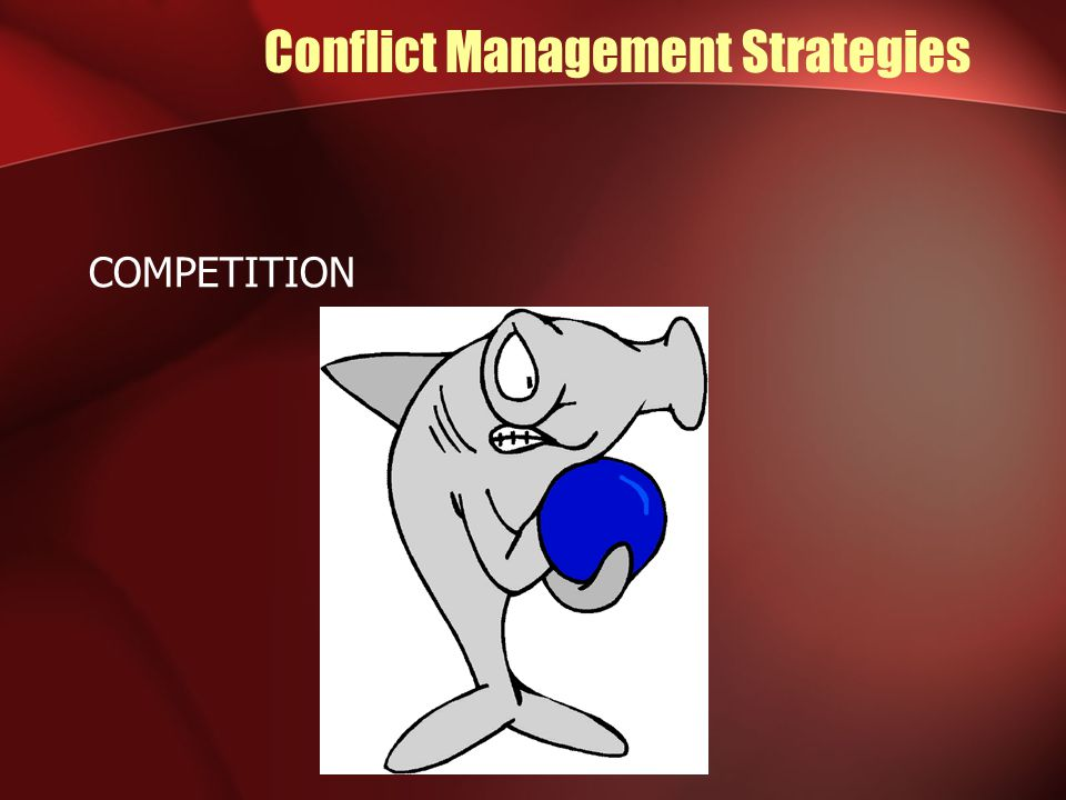 Conflict Management Strategies COMPETITION
