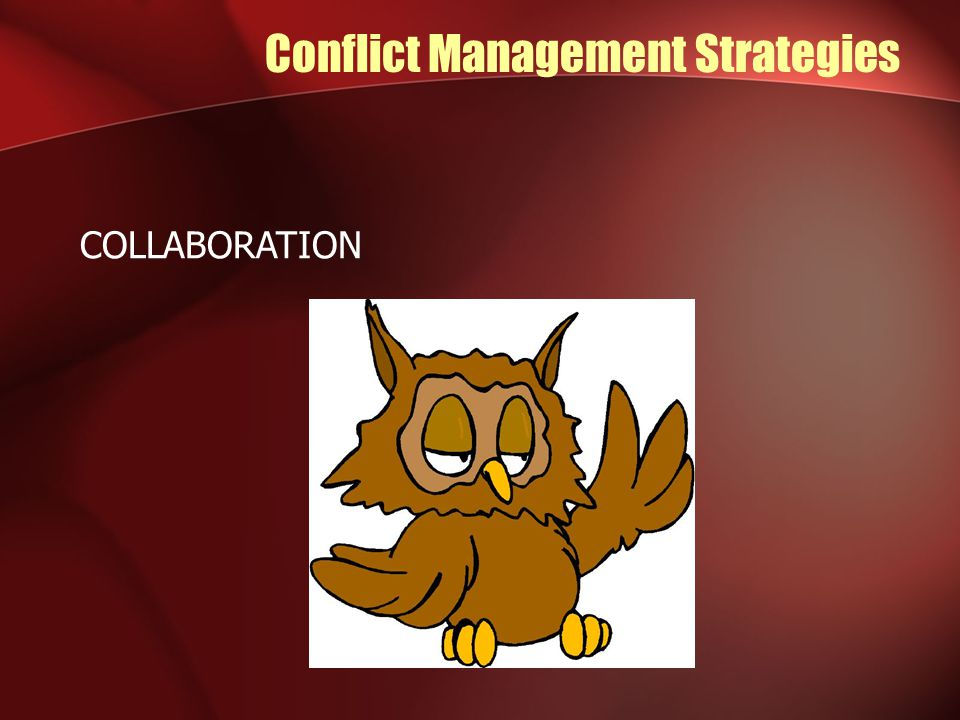 Conflict Management Strategies COLLABORATION