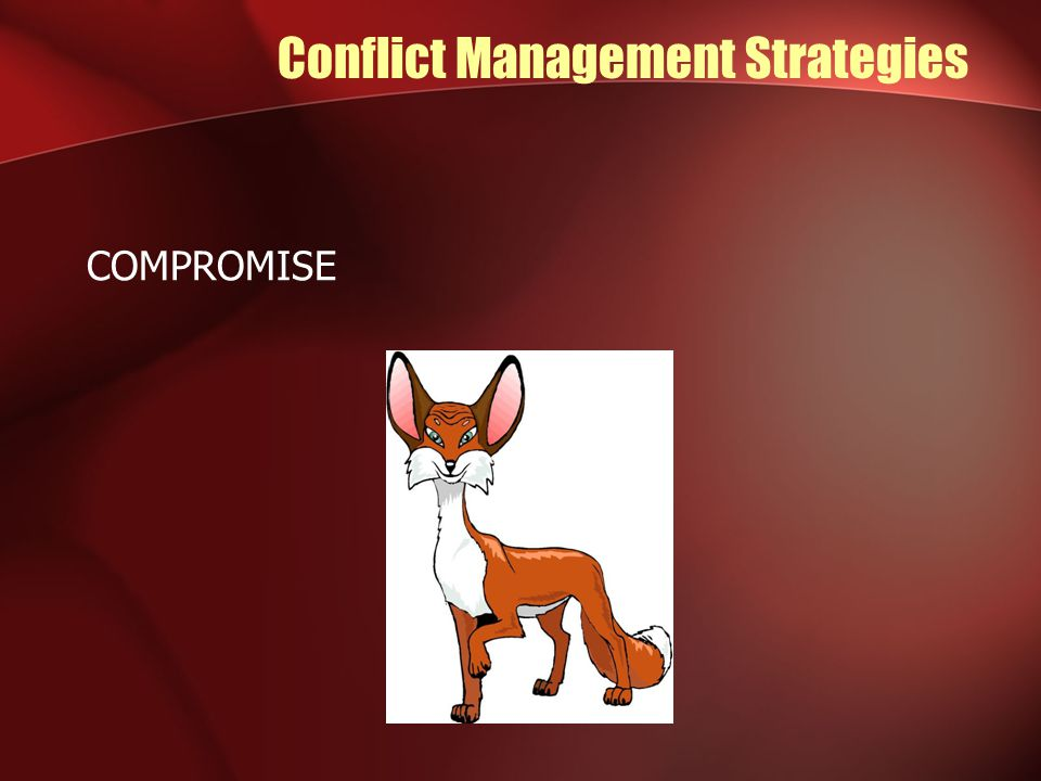 Conflict Management Strategies COMPROMISE