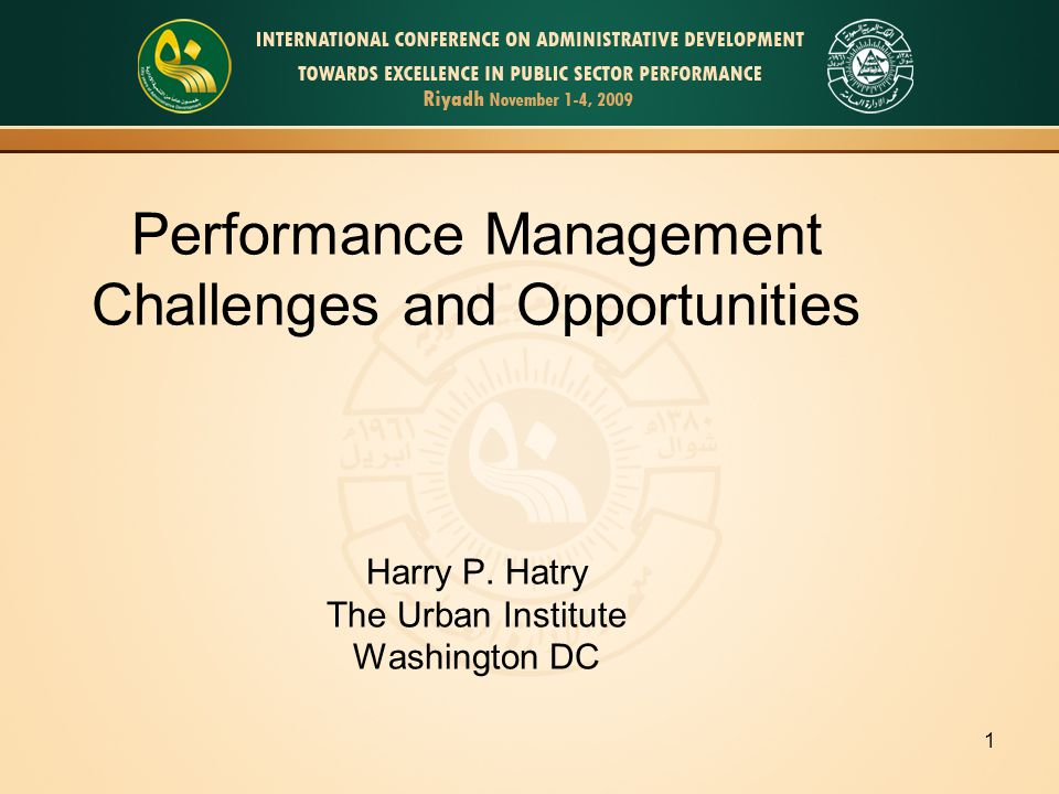 12 Performance Management Step 1: Do basic analysis of the data Step 2: Require explanations for poor results Step 3: Provide clear, meaningful, reporting of the performance information to public officials Step 4: Use the information to improve