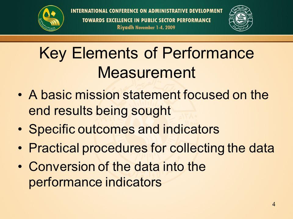 5 Sources for Identifying Performance Indicators Legislation wording Development of logic models (Outcome sequence charts) Focus groups, or other meetings with key stakeholders (such as public officials, program staffs, and customers/citizens)