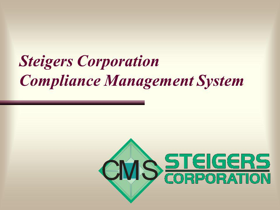 Steigers Corporation Compliance Management System