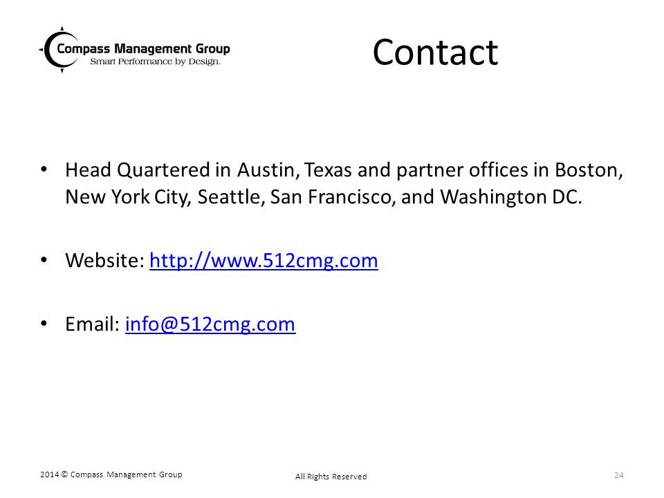 Contact Head Quartered in Austin, Texas and partner offices in Boston, New York City, Seattle, San Francisco, and Washington DC. Website: http://www.5