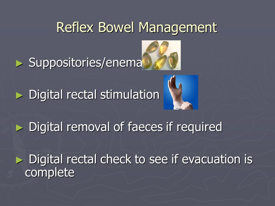 Example of digital rectal stimulation