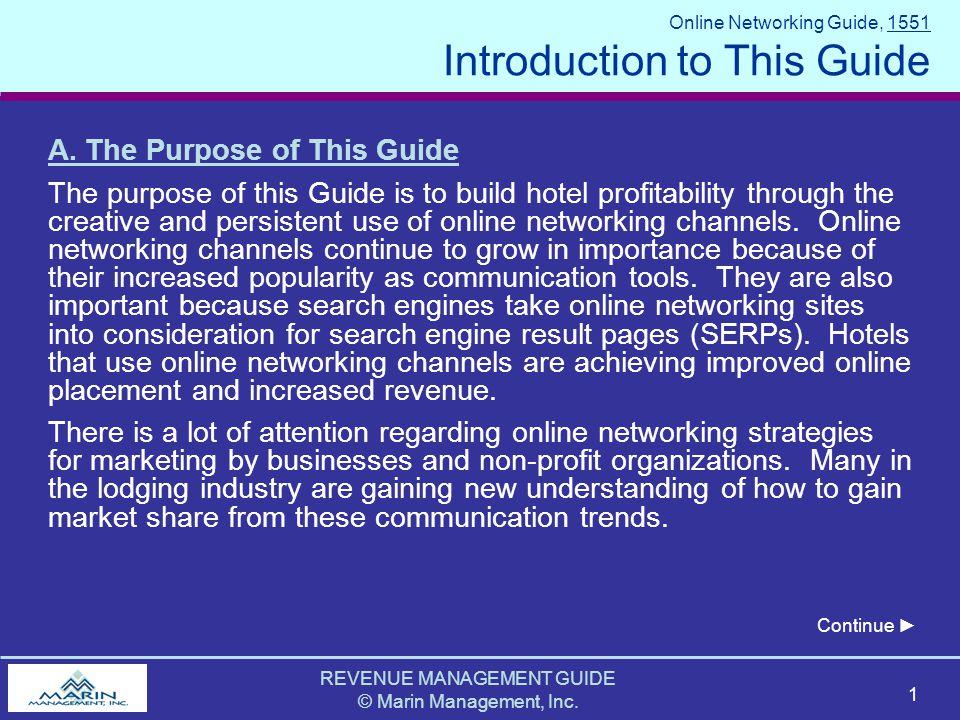 REVENUE MANAGEMENT GUIDE © Marin Management, Inc.