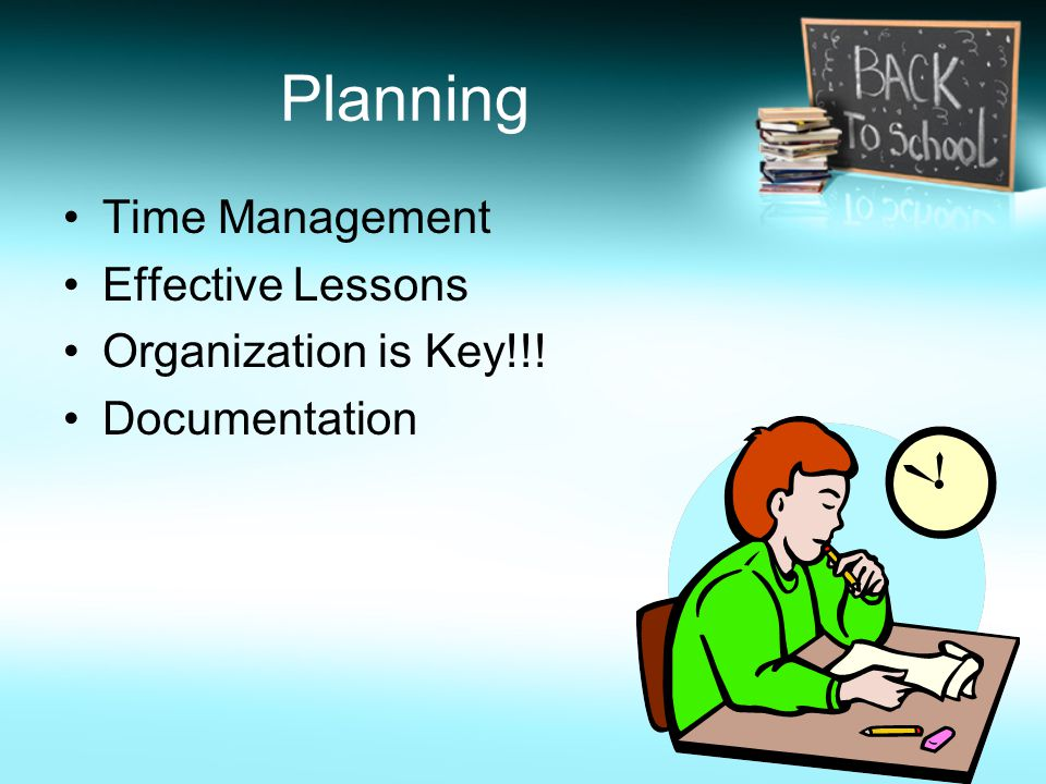 Planning Time Management Effective Lessons Organization is Key!!! Documentation