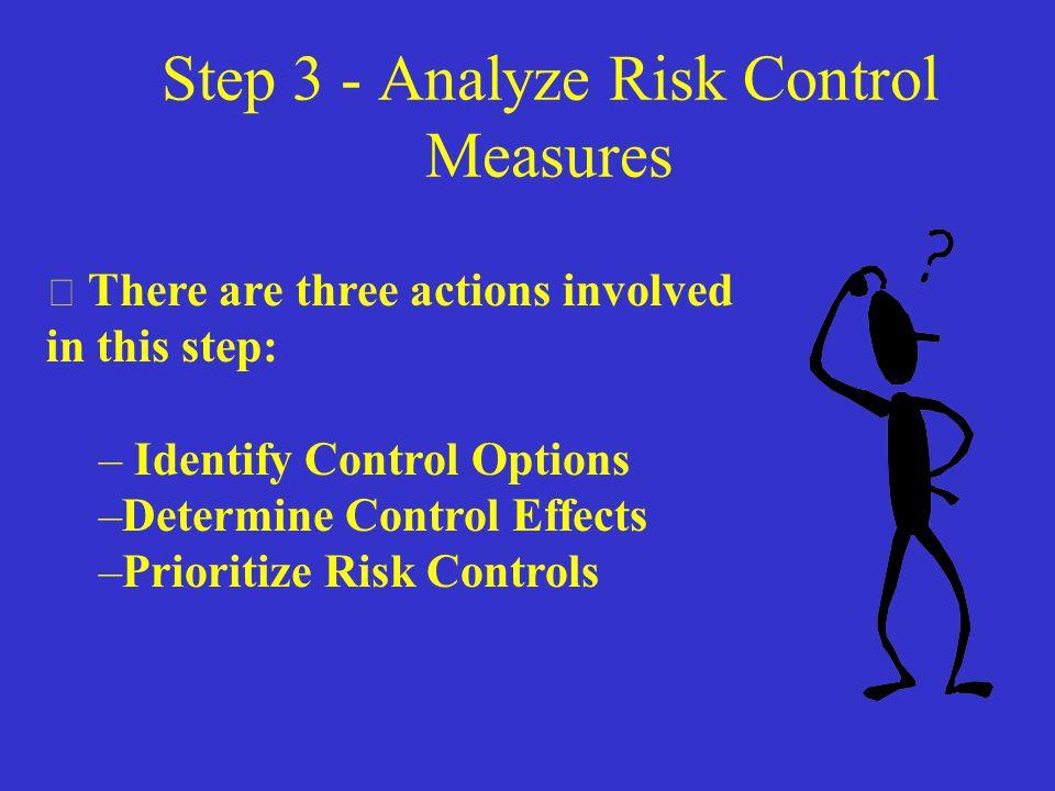 Step 2 - Risk Assessment  Use the Risk Assessment Matrix to assign a Value to threats of harm (AFPAM 91-215) Assessment Pitfalls: –Over Optimism - I