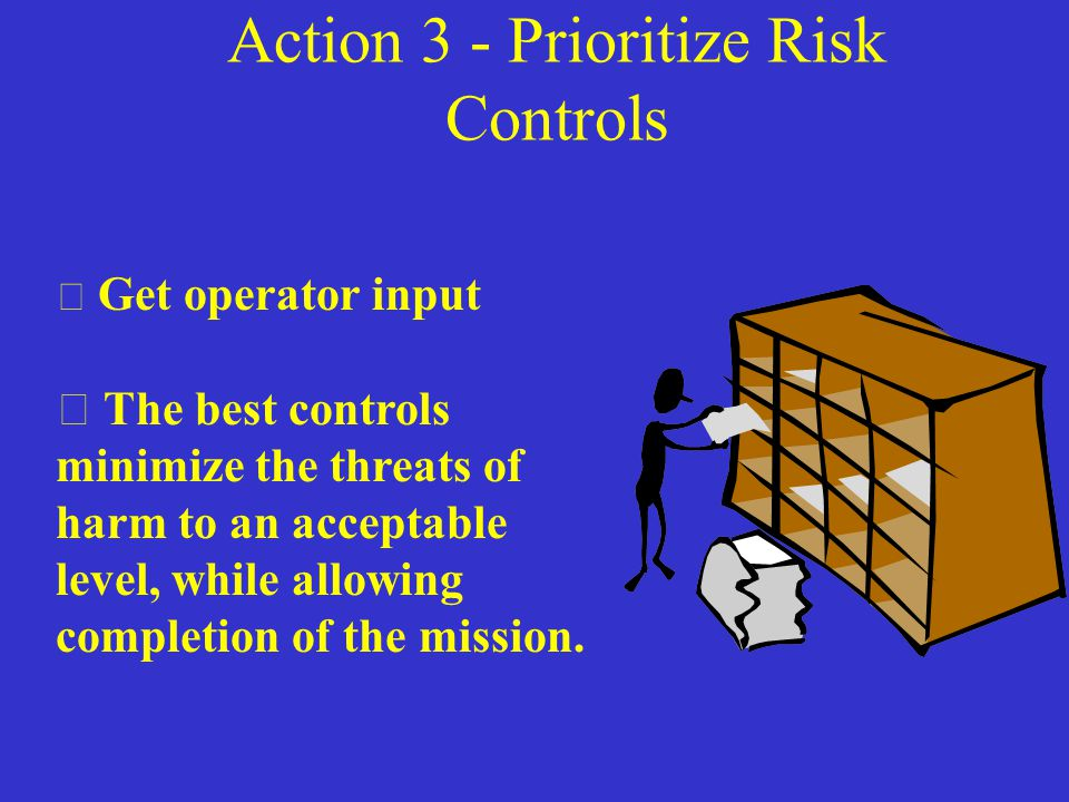 Action 2 - Determine Control Effects What is the impact on the probability and severity of the threat of harm.