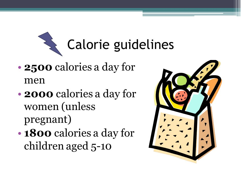 Nutrition Guidelines Get 45-65% of diet from carbohydrates Get 10-35% of diet from protein Get 20-35% of diet from fats Eat lots of green, leafy vegetables Eat those whole grains Remember: be approximate; have fun