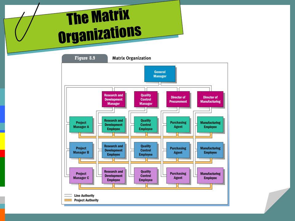 The Matrix Organizations